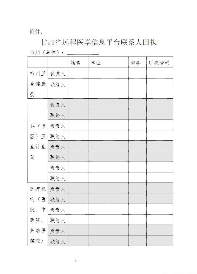 关于加快推进甘肃省远程医学信息平台建设工作的通知