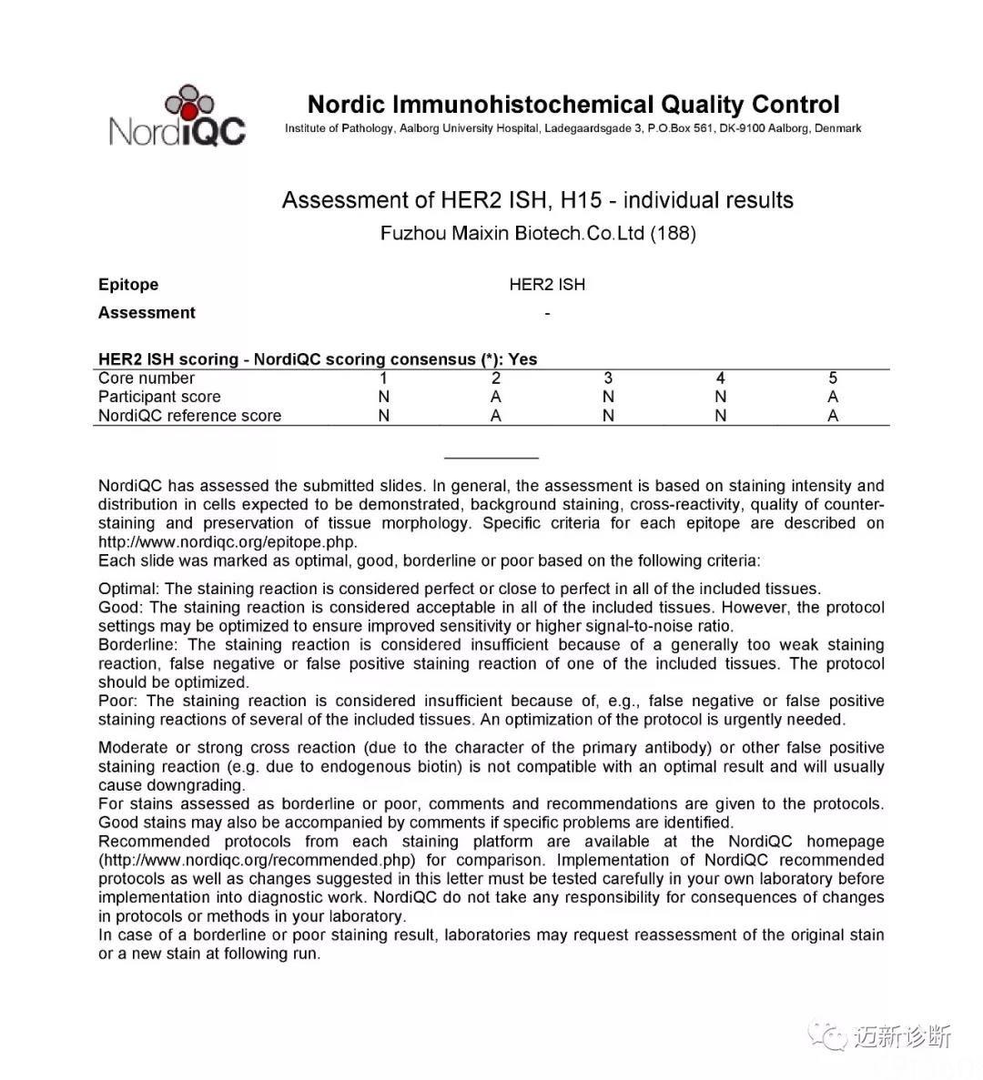 精益求精而臻于至善,迈新在 NordiQC 2019年室间质评活动中再创佳绩