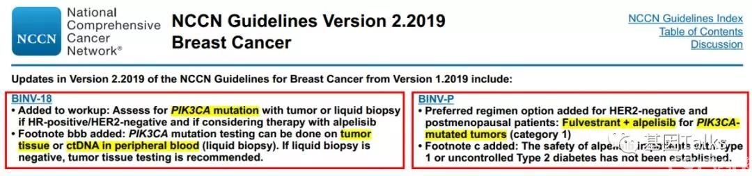 乳腺癌丨PIK3CA写入最新乳腺癌2019 NCCN V.2指南,还不了解一下?